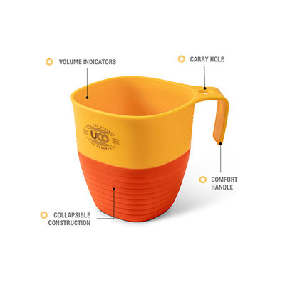 UCO Gear Lunch kit geel oranje