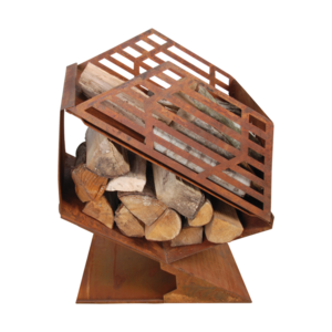 Esschert Design  Terraskachel met houtopslag S