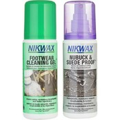 Nikwax Footwear Cleaning Gel  & Fabric Leather Spray - Twin Pack125 ml
