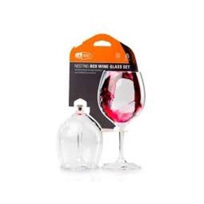 GSI Outdoors Rood wijnglas set