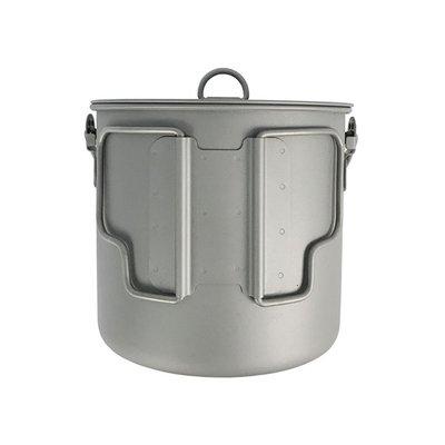 Pathfinder Titanium Bushpot met deksel (1,1 L)