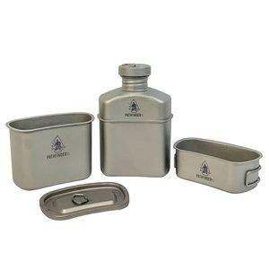 Pathfinder Titanium Veldfles Kookset (1,1L)
