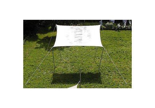 EDUPLAY Sonnensegel 6 x 4 creme wei§ - wasserabweisend -
