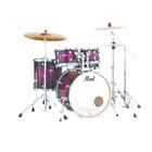 Pearl Decade Maple Gloss deep red Burst - 5pc - Studio