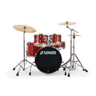 Sonor AQX - Studio Setup - Red Moon Sparkle