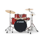 Sonor AQX - Stage Setup - Red Moon Sparkle