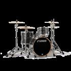 Sonor ProLite Shell Set - 320 - Ebony White Stripes