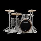 Sonor ProLite Shell Set - 322 - Ebony White Stripes