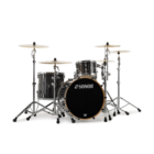 Sonor ProLite Shell Set - 322 - Ebony White Stripes - No Mount