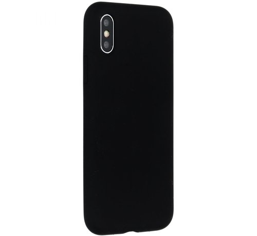 Accezz Accezz Siliconen Case Liquid iPhone X Zwart