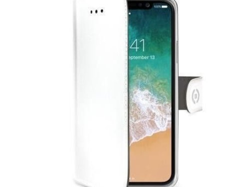 Celly Celly Bookcase Wally PU iPhone X Wit