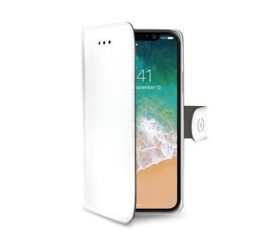 Celly Bookcase Wally PU iPhone X Wit
