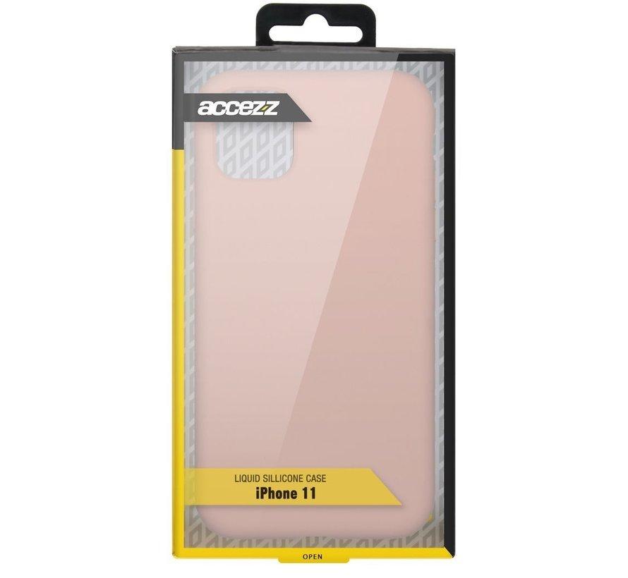 Accezz Liquid Siliconen Case iPhone 11 Roze