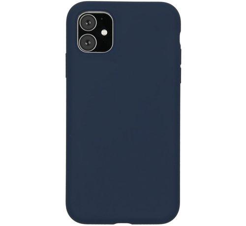 Accezz Accezz Liquid Siliconen Case iPhone 11 Blauw