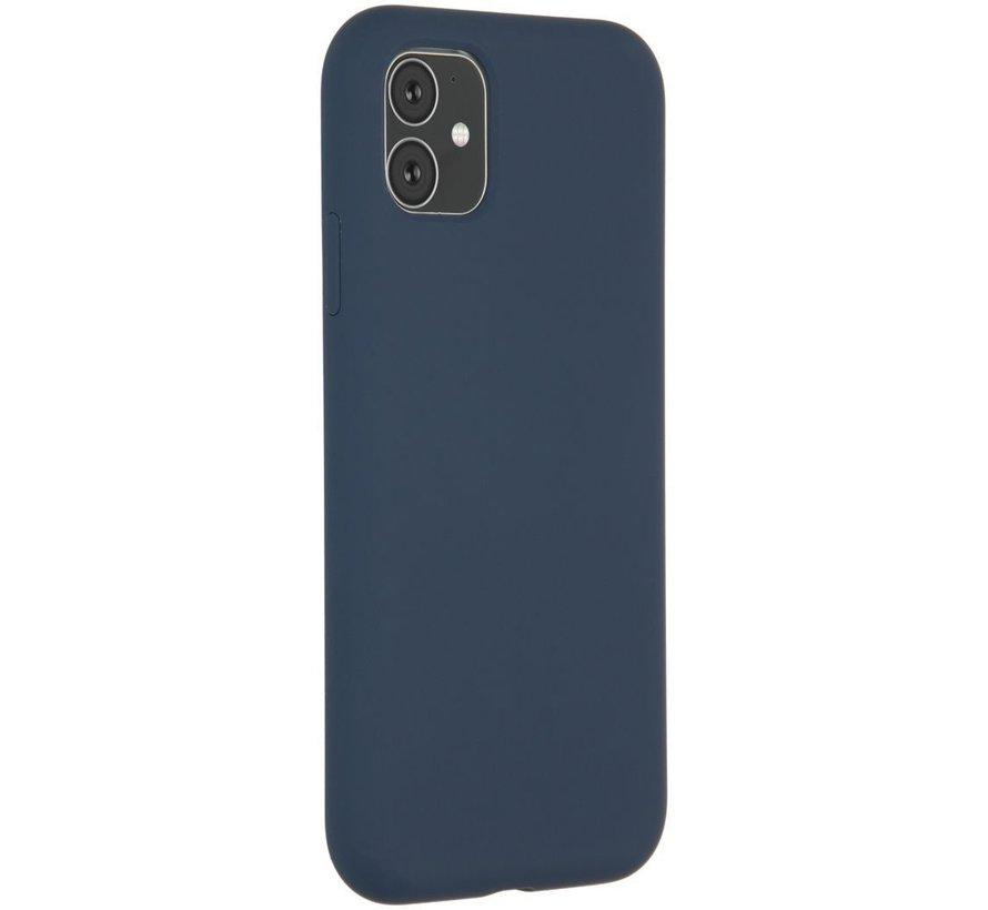 Accezz Liquid Siliconen Case iPhone 11 Blauw