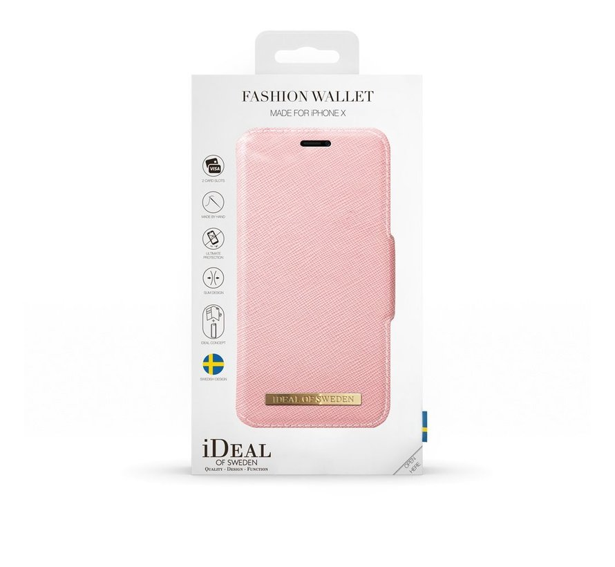 iDeal Fashion Wallet iPhone X/Xs Roze