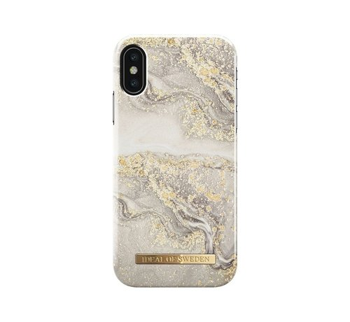 iDeal of Sweden iDeal Fashion Hardcase Sparkle Greige Marble iPhone X/Xs