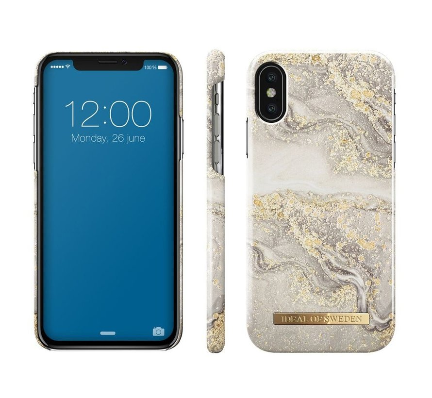 iDeal Fashion Hardcase Sparkle Greige Marble iPhone X/Xs