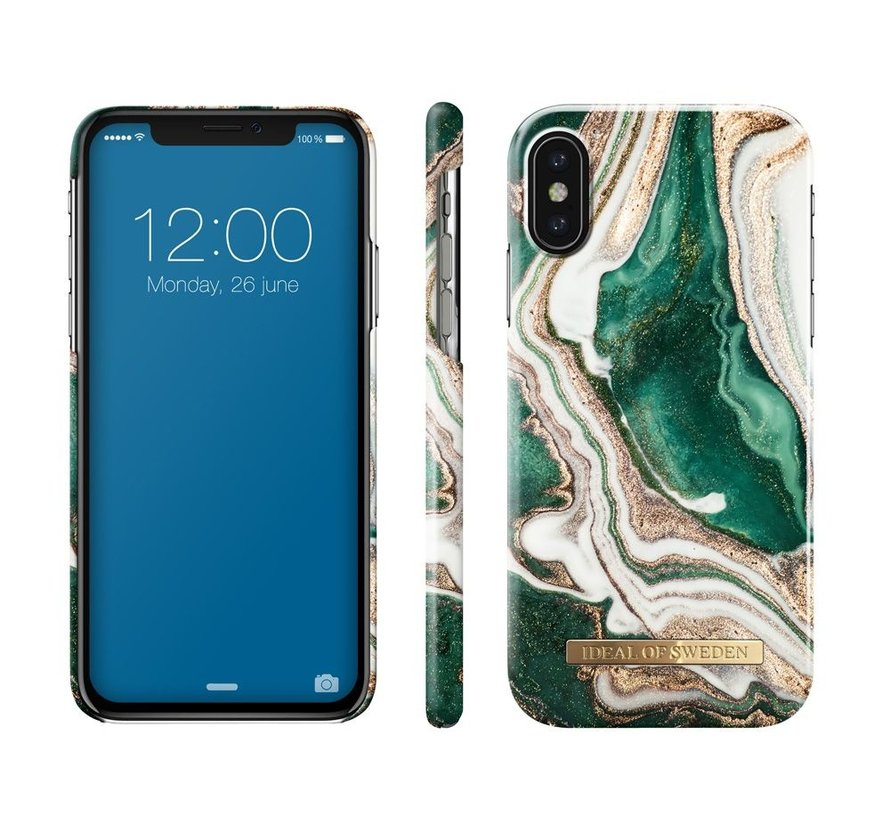 iDeal Fashion Hardcase Golden Jade Marble iPhone X/Xs