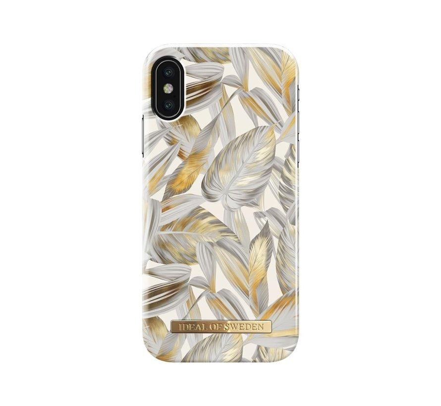 iDeal Fashion Hardcase Platinum Leaves iPhone X/Xs