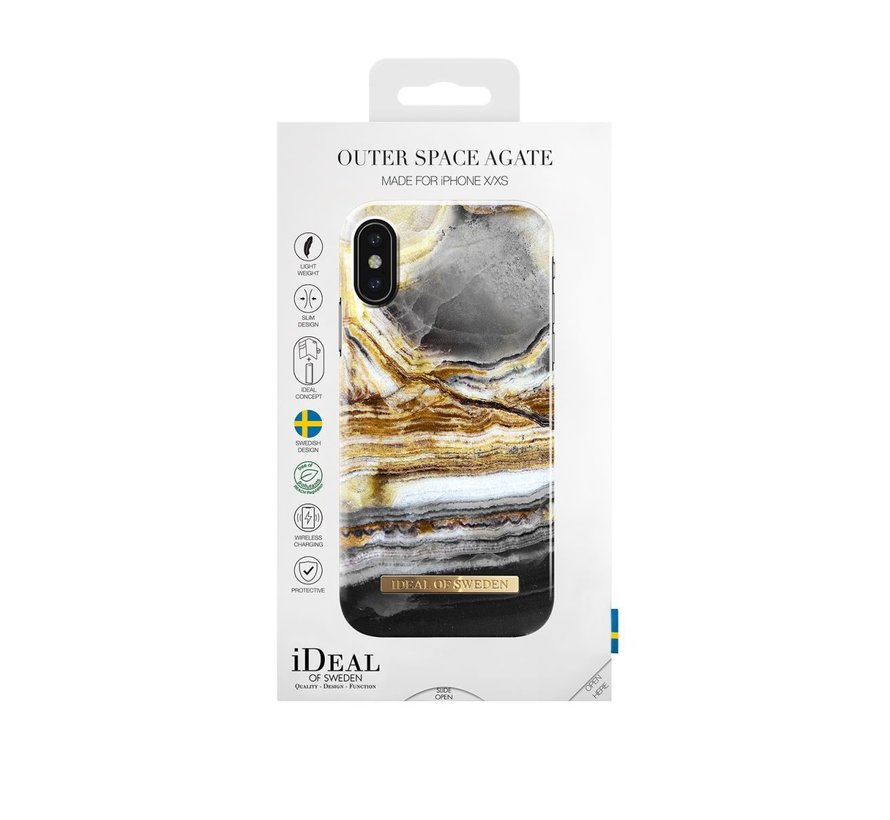iDeal Fashion Hardcase Outer Space Agate iPhone X/Xs