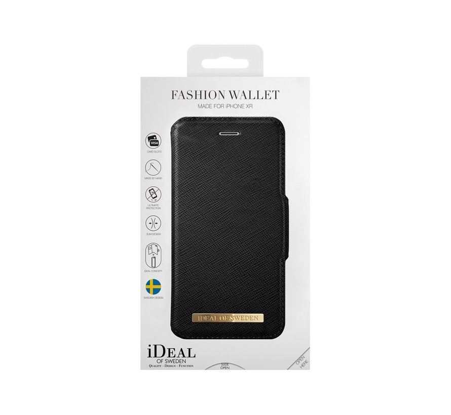 iDeal Fashion Wallet iPhone XR Zwart