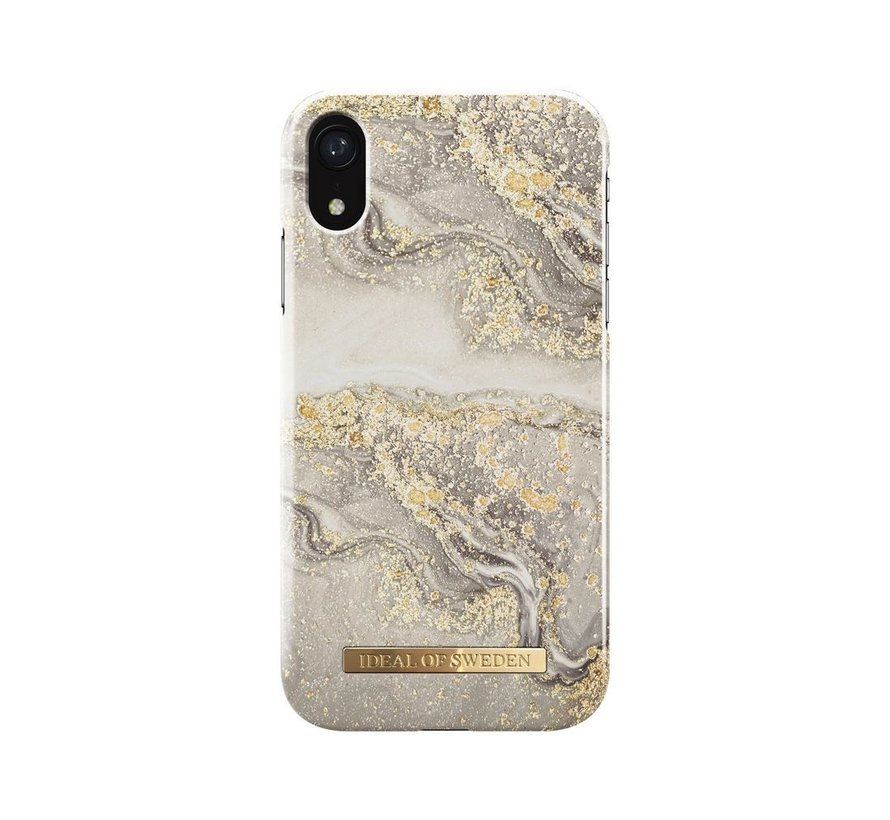 iDeal Fashion Hardcase Sparkle Greige Marble iPhone XR