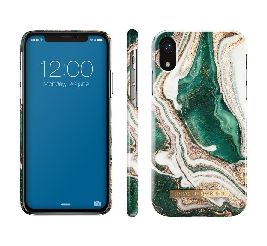 iDeal Fashion Hardcase Golden Jade Marble iPhone XR