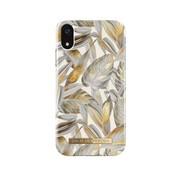 iDeal of Sweden iDeal Fashion Hardcase Platinum Leaves iPhone XR