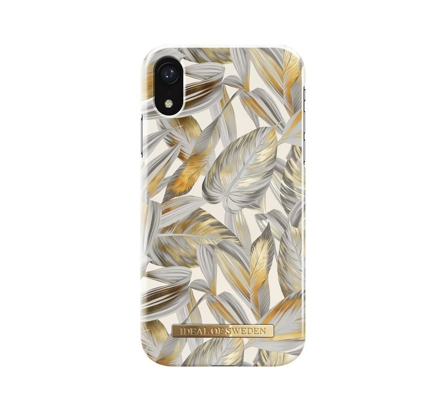 iDeal Fashion Hardcase Platinum Leaves iPhone XR