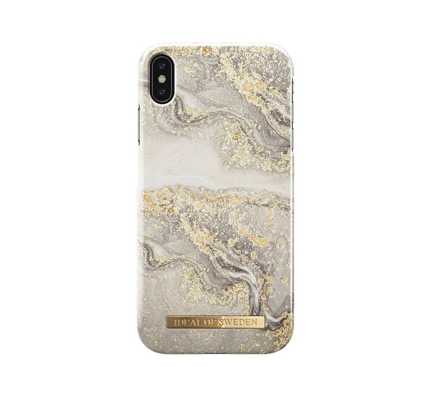 iDeal Fashion Hardcase Sparkle Greige Marble iPhone Xs Max