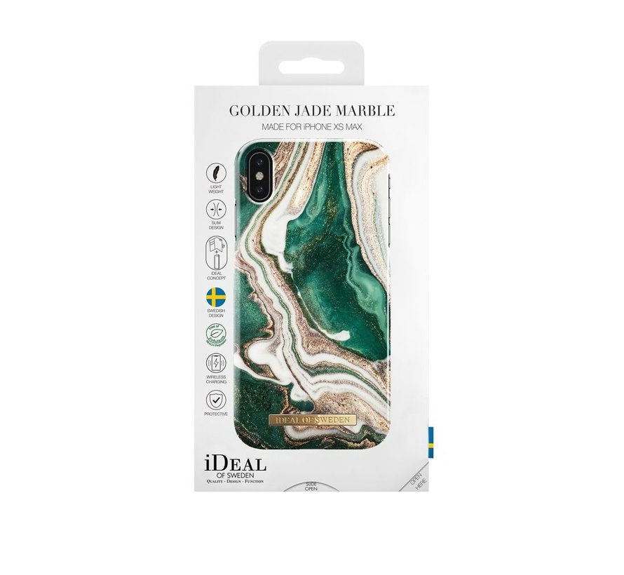 iDeal Fashion Hardcase Golden Jade Marble iPhone Xs Max