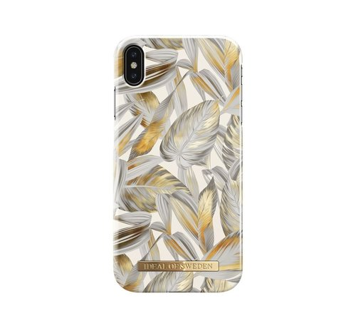 iDeal of Sweden iDeal Fashion Hardcase Platinum Leaves iPhone Xs Max