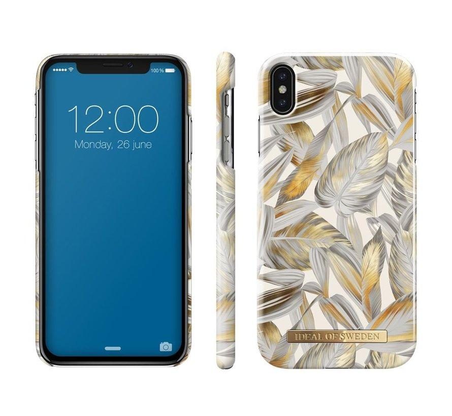 iDeal Fashion Hardcase Platinum Leaves iPhone Xs Max