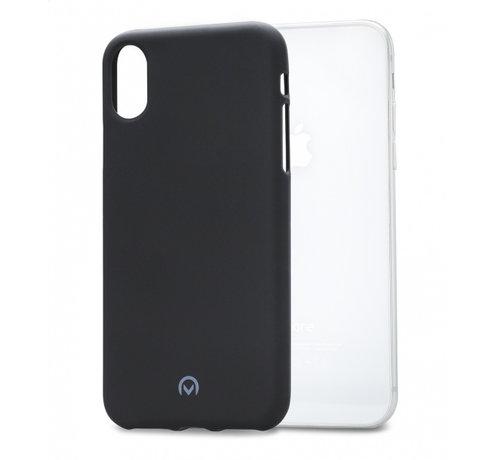 Mobilize Mobilize Siliconen Case Gelly iPhone X Mat Zwart