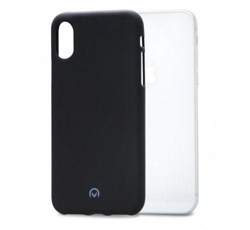 Mobilize MMobilize Siliconen Case Gelly iPhone Xs Max Mat Zwart