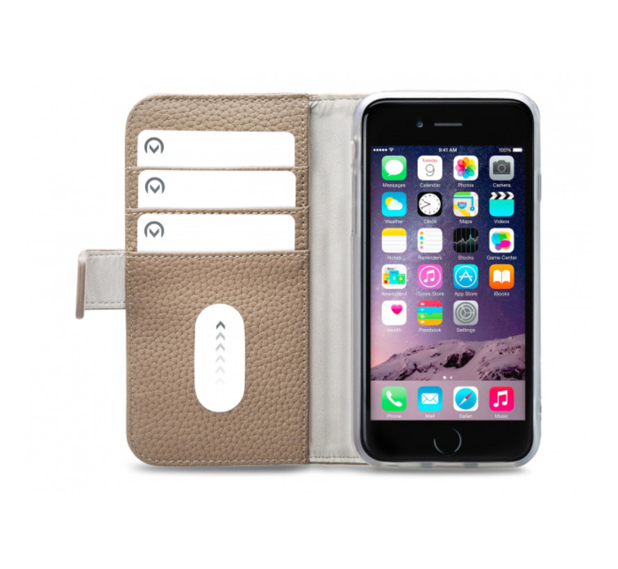 Mobilize Wallet Gelly iPhone 6/6s/7/8 Taupe