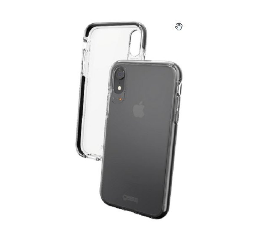 Gear4 D3O Piccadilly Black iPhone XR Transparant