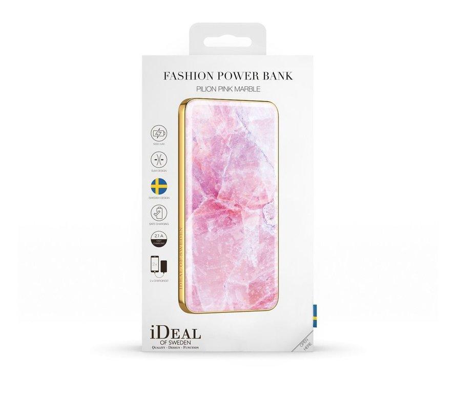 iDeal Powerbank Pilion Pink Marble 5000 MAH