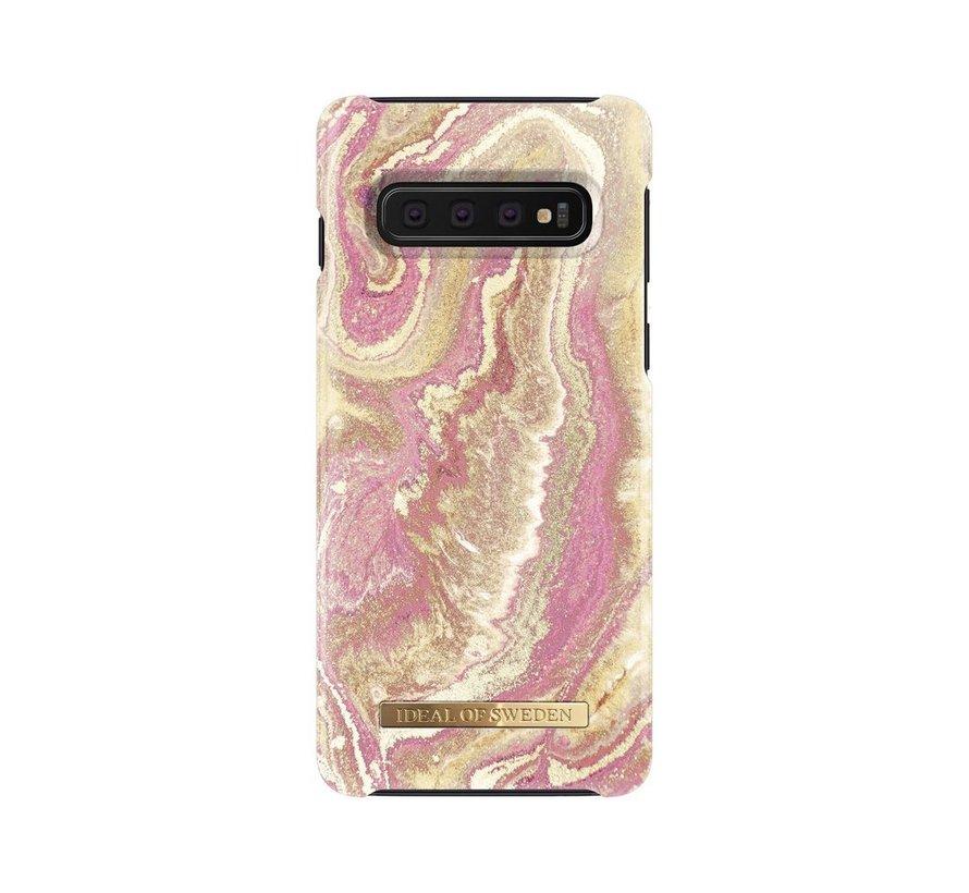 iDeal Fashion Hardcase Golden Blush Marble Samsung Galaxy S10
