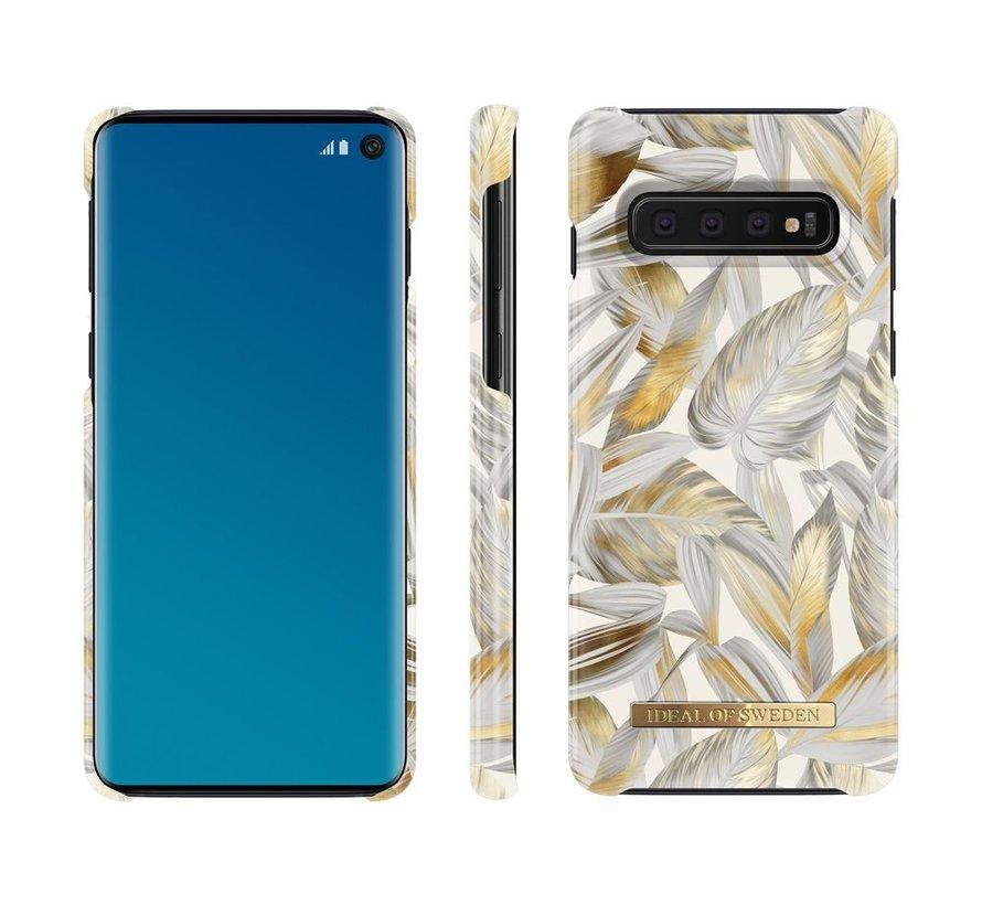 iDeal Fashion Hardcase Platinum Leaves Samsung Galaxy S10