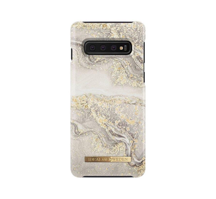 iDeal Fashion Hardcase Sparkle Greige Marble Samsung Galaxy S10