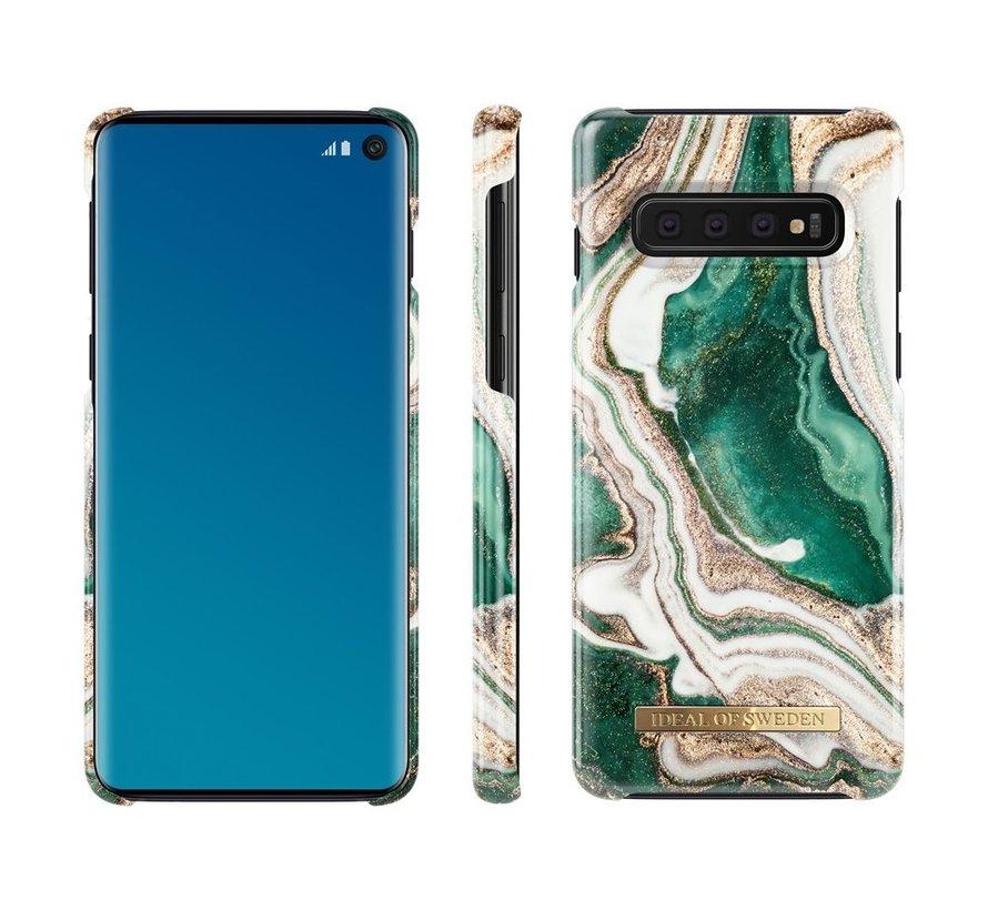 iDeal Fashion Hardcase Golden Jade Marble Samsung Galaxy S10