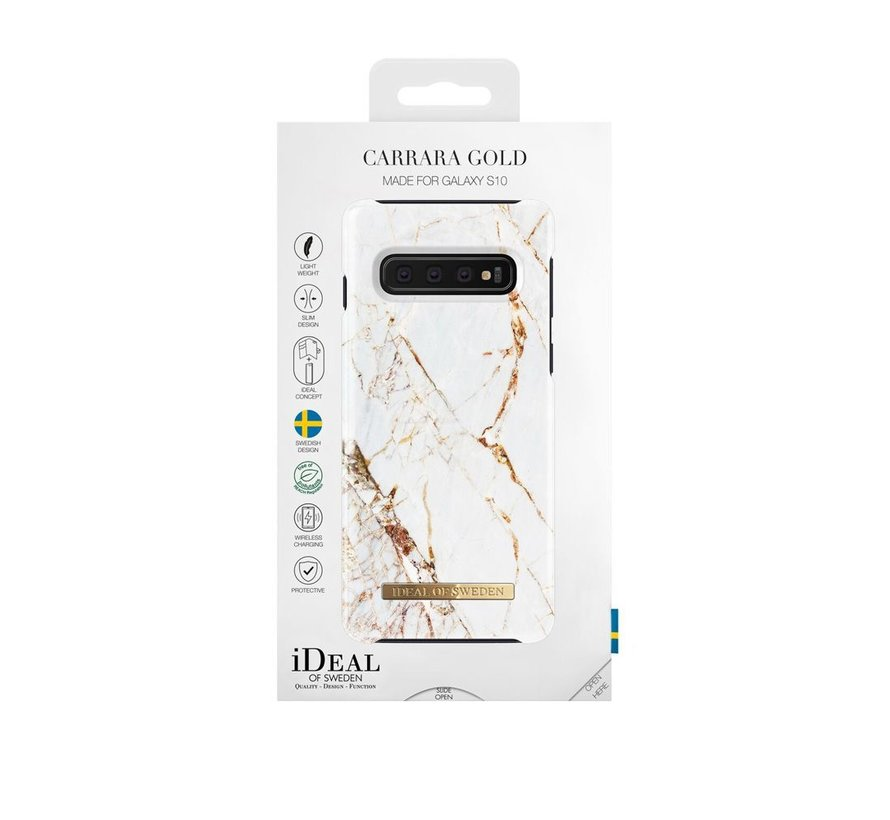 iDeal Fashion Hardcase Carrara Gold Samsung Galaxy S10