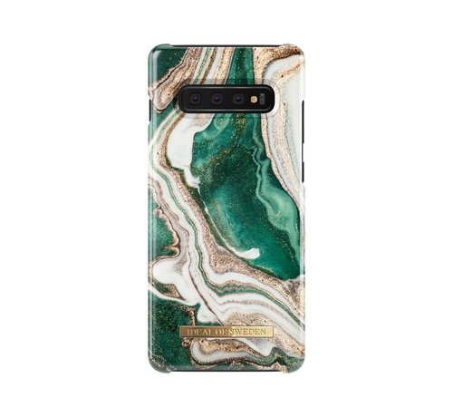 iDeal of Sweden iDeal Fashion Case Golden Jade Marble Samsung Galaxy S10 Plus