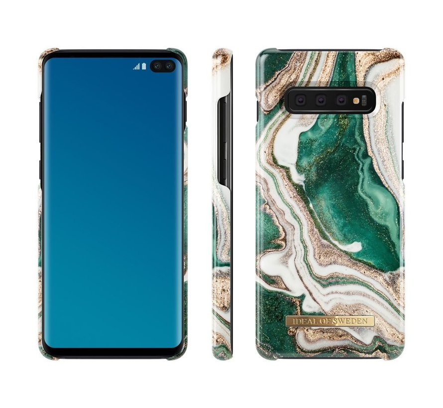 iDeal Fashion Case Golden Jade Marble Samsung Galaxy S10 Plus