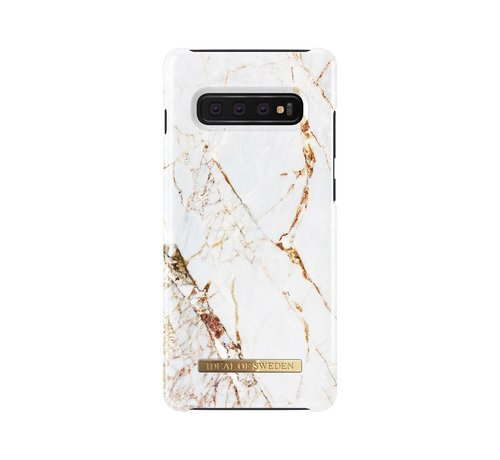 iDeal of Sweden iDeal Fashion Hardcase Carrara Gold Samsung Galaxy S10 Plus