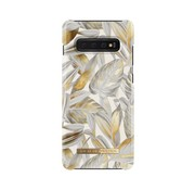 iDeal of Sweden iDeal Fashion Hardcase Platinum Leaves Samsung Galaxy S10 Plus