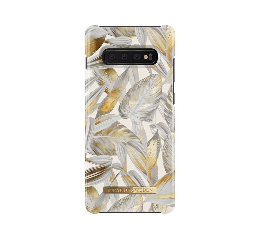 iDeal Fashion Hardcase Platinum Leaves Samsung Galaxy S10 Plus
