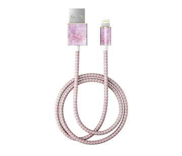 iDeal of Sweden iDeal Lightning MFI Oplaadkabel Pilion Pink Marble 1 Meter